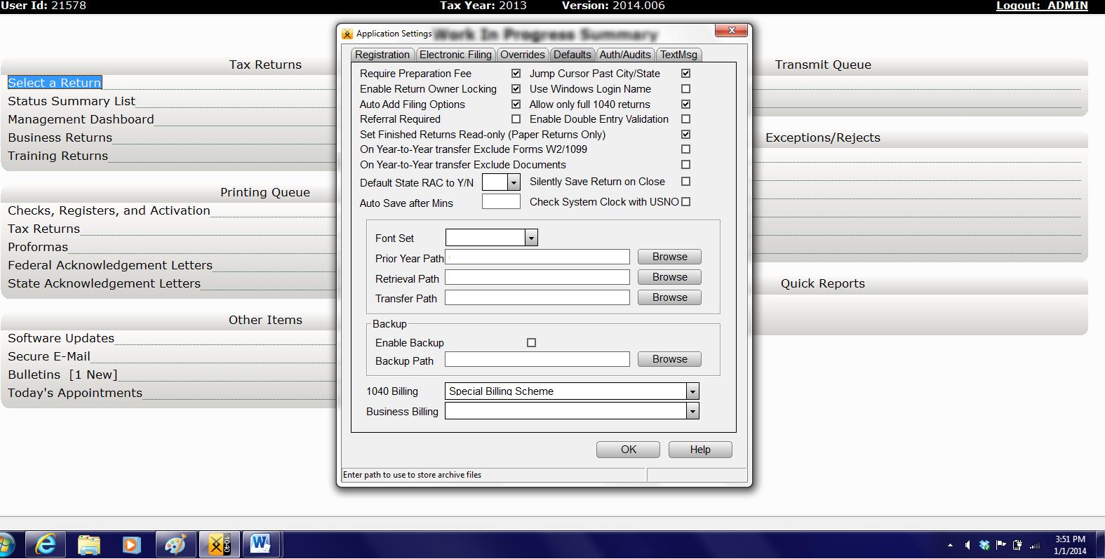 Crosslink Tax Software